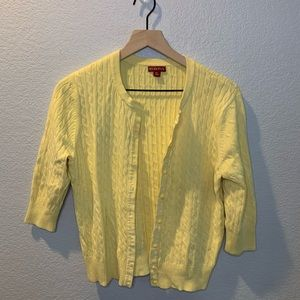 Merona Yellow 3/4 Sleeve Sweater